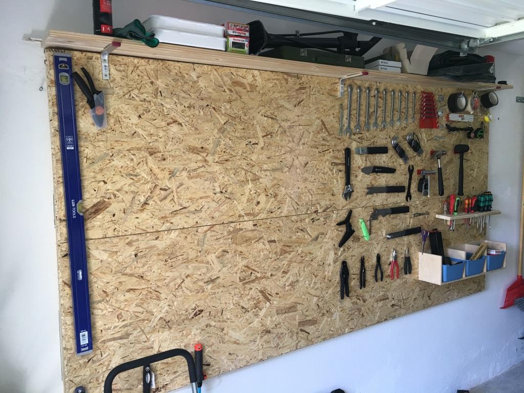werkzeugwand holz doppelwandhaken ger tehalter 18 x 6 5 cm gartenger te. Black Bedroom Furniture Sets. Home Design Ideas