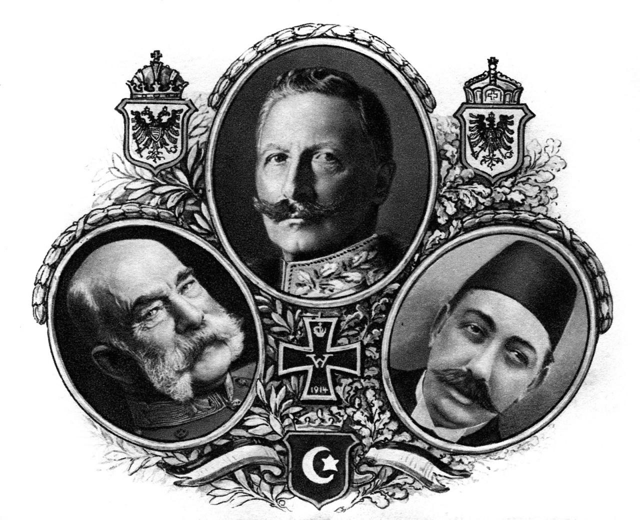 Central Powers - Kaiser_Wilhelm_II._von_Deutschland_Franz_Joseph_I._von_Österreich_Sultan_Mehmet_V - Deutschland und die Ostmark - Peter Crawford