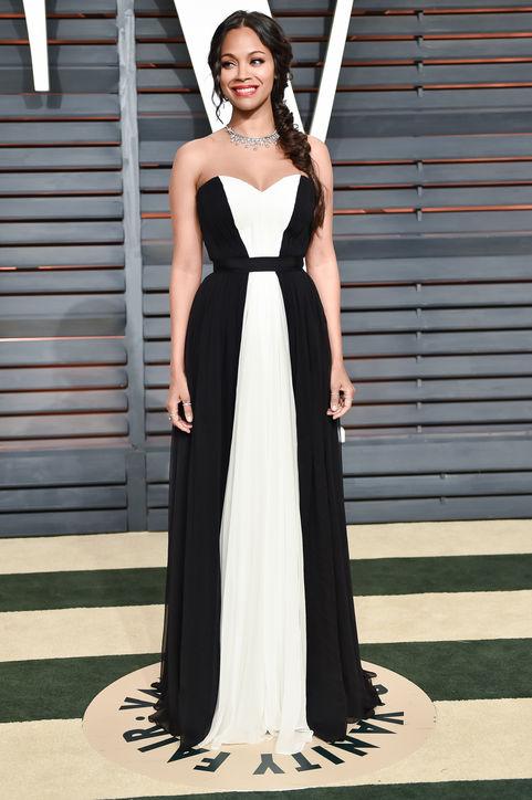 zoe-saldana-black-white-gown-vanity-fair-oscar-party-2015-h724