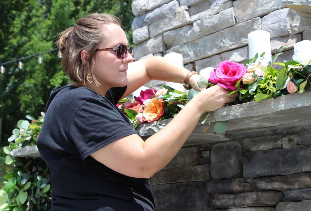 Fuschia_Coral_Peach_Mantle_Garland_Stephanie_Lang_The_Venue_Chattanooga_Latin_Wedding_Lang_Floral_Designs