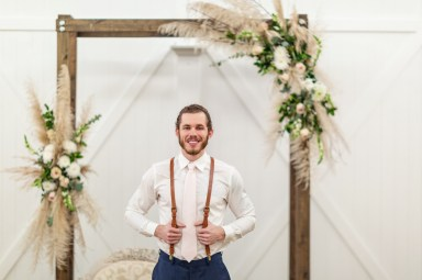 Pampas Grass floral installation, Lang Floral Designs, Chattanooga Wedding Florist