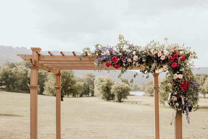 Wildflower Arbor Floral Installation, Ceremony, Chattanooga Wedding