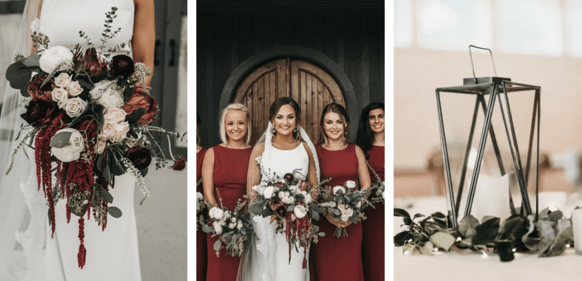 Burgundy Fall Wedding (Rafferty Photo), Chattanooga Wedding Florist, Lang Floral Designs