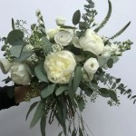 Eucalyptus Wedding Flowers With Stunning White Peonies