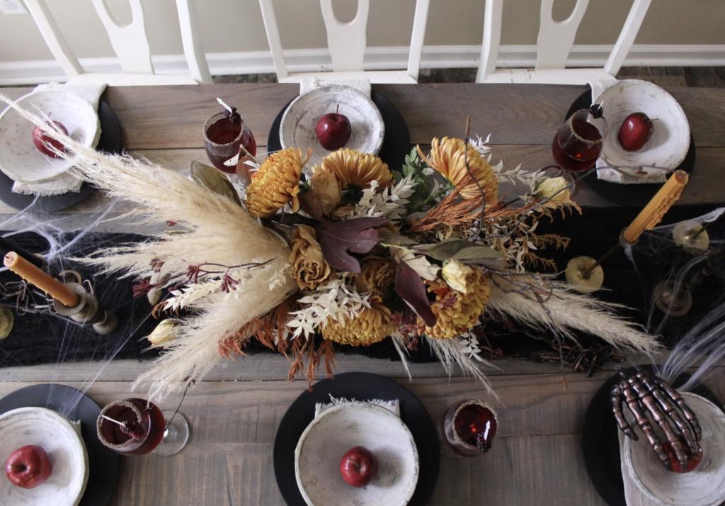 halloween table decor, lang floral designs, Chattanooga wedding florist