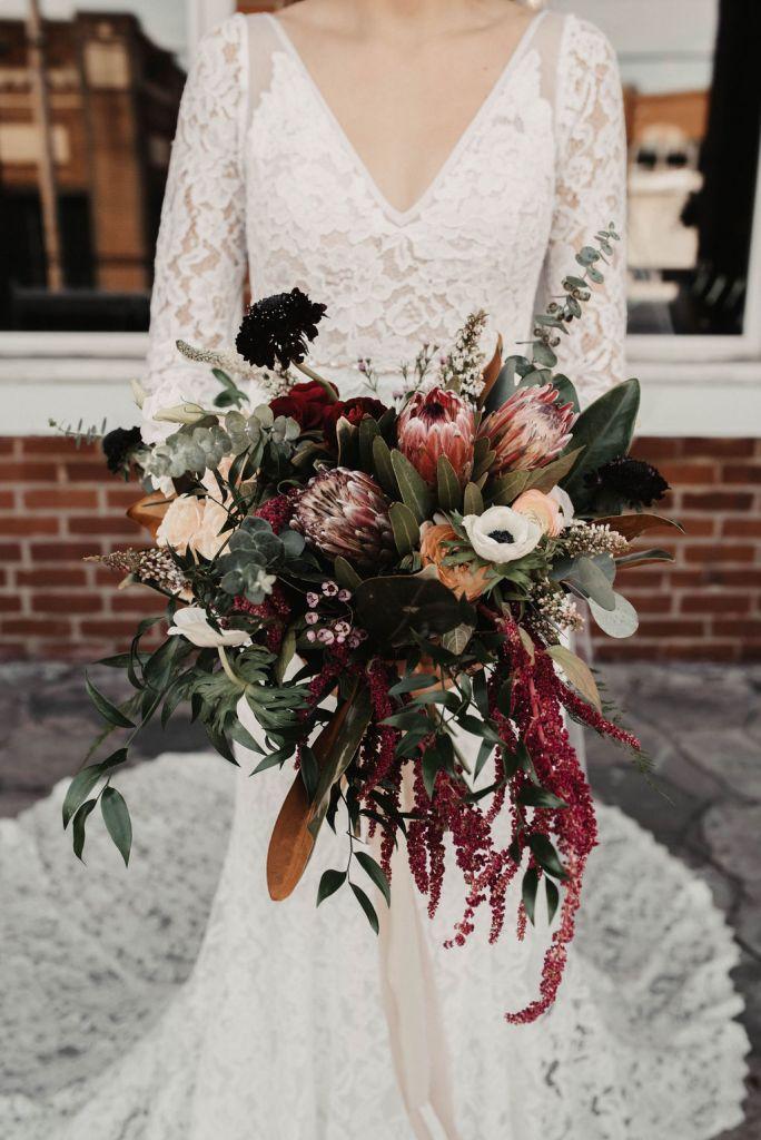 Dark Rich Wedding Theme, Winter Wedding, Dark Wedding Flowers, Lang Floral Designs, Chattanooga Wedding Florist
