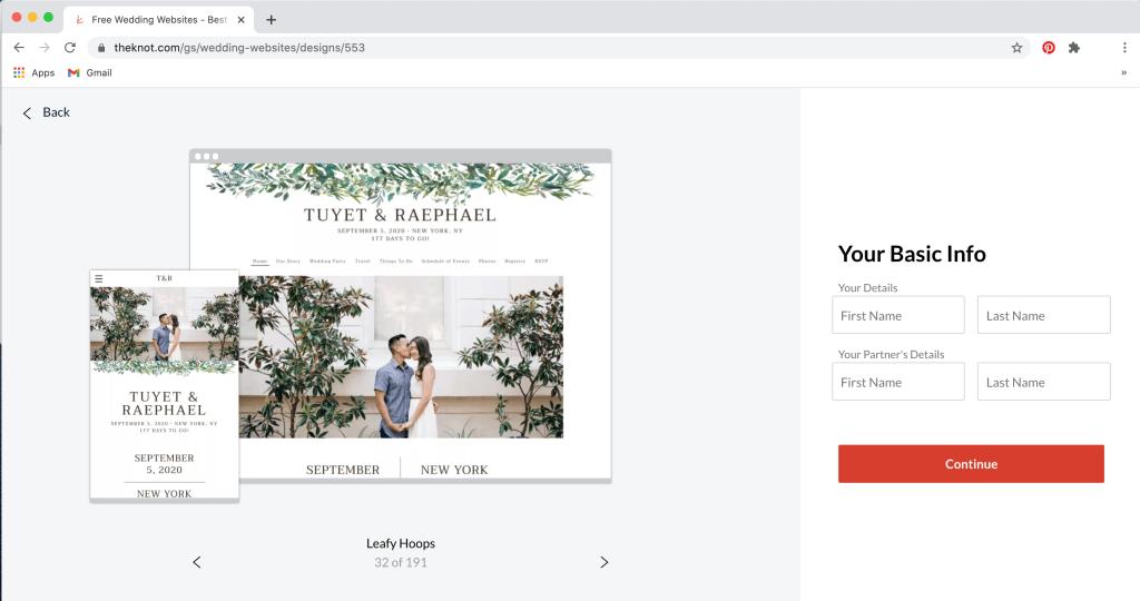 Wedding Website Examples