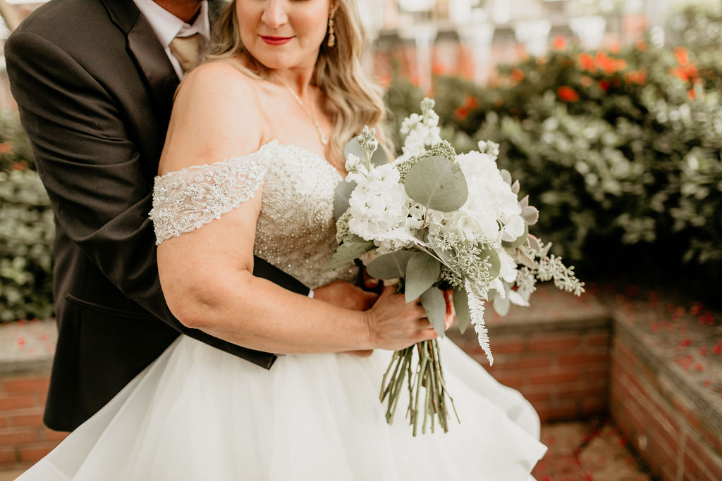 Eucalyptus Wedding, Succulents and White Flowers