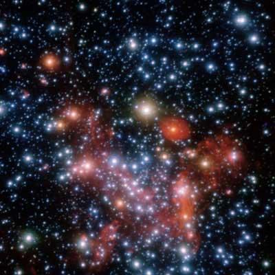 Area pusat galaksi Bima Sakti. Kredit : ESO