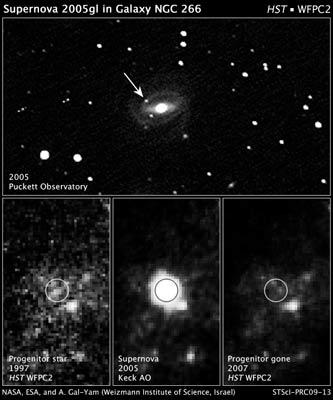 Hubble mnemukan supernova pada bintang yang masih muda. Kredit : Hubble