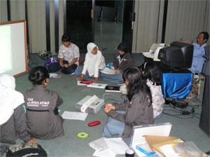 Suasana pelatihan di Planetarium Jakarta. Kredit : Indra