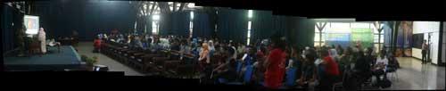 Suasana seminar tentang kiamat 2012. kredit : Nggieng