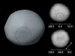 Asteroid Pallas. Kredit : Hubble
