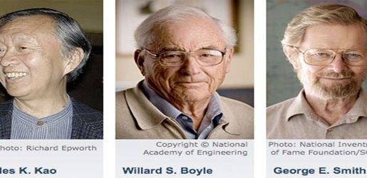 Para penerima hadiah nobel atas pekerjaannya menemukan CCD. Kredit : nobelprize.org