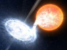 Aliran gas dari bintang normal ke lubang hitam dalam sistem ganda. Kredit : ESO