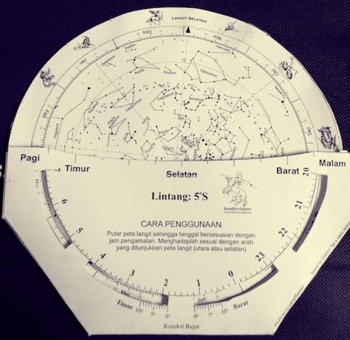 Planisphere sederhana yang bisa dibuat sendiri. Kredit: langitselatan
