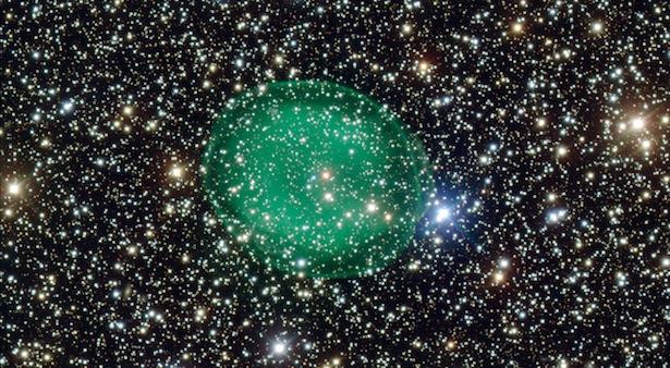 Nebula IC 1295 yag dipotret VLT. Kredit: ESO