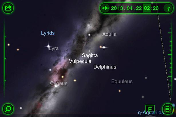Rasi Lyra tampak di timur laut pada jam 2 dini hari. Kredit: StarWalk