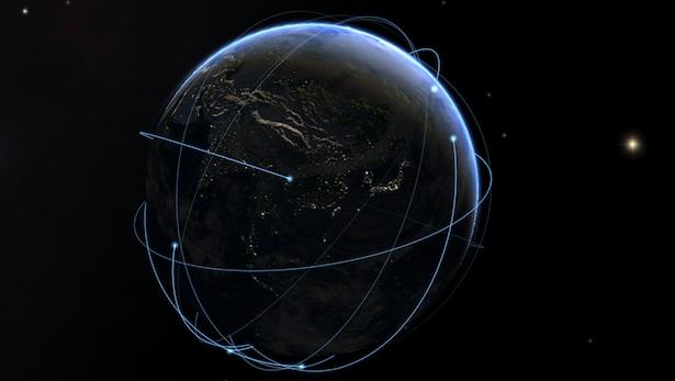 Satelit-satelit yang mengorbit Bumi. Kredit: SolarWalk