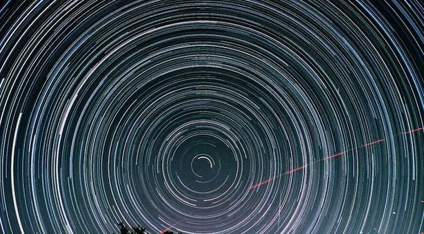 star trails. kredit: science blog