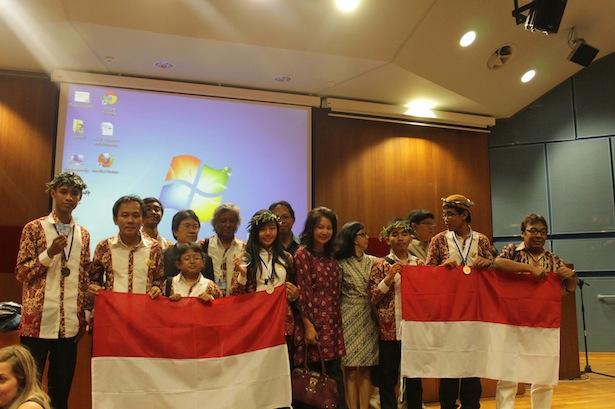 Tim Indonesia saat penutupan. Kredit: Hakim L. Malasan
