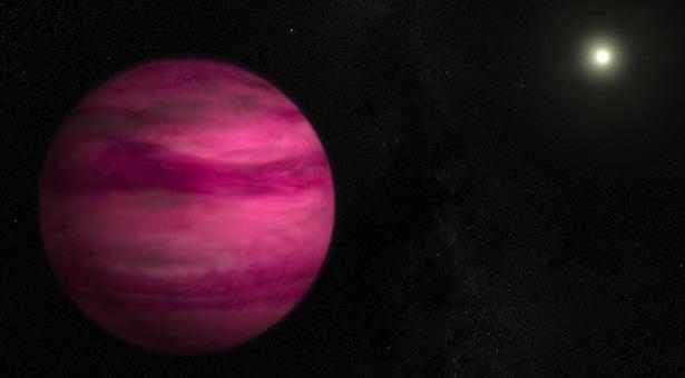 Ilustrasi yang melukiskan exoplanet GJ 504b, planet baru yang dideteksi secara langsung oleh para astronom Jepang . Kredit: NASA's Goddard Space Flight Center / S. Wiessinger.