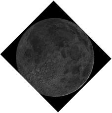 Gambar 2. Simulasi hilal awal Dzulhijjah (bentuk dan orientasi) yang diperoleh dengan bantuan perangkat lunak Virtual Moon Atlas untuk lokasi pengamat di Bandung (5 Oktober 2013) pada saat Matahari terbenam waktu setempat.