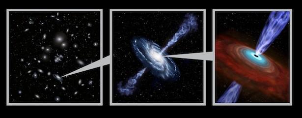 KOlase lingkungan padat galaksi dimana AGN banyak ditemukan, Kredit: NAOJ