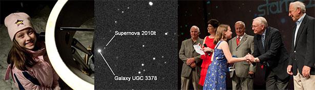 Kathryn Gray, kakak dari Nathan Gray yang menemukan Supernova di usia 10 tahun pada tahun 2010. Sumber: Universe Today