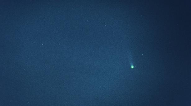 Komet ISON yang dipotret dari Jawa Barat oleh M. Rayhan.