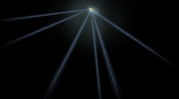 Skema asteroid berekor 6. Kredit: NASA, ESA, and A. Feild (STScI)