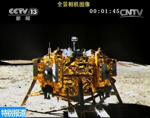Potret Chang'e di Bulan yang diambil oleh Yutu. Kredit: China Space