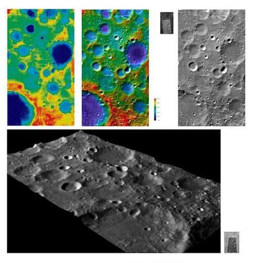 Foto permukaan Bulan yang diambil Chang'e 1. Kredit: Chang'e