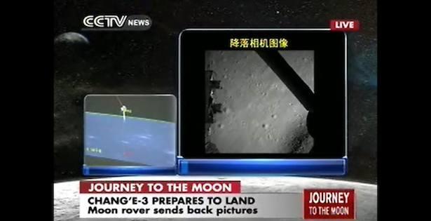 Jelang pendaratan Chang'e 3 di Bulan. Kredit: CCTV
