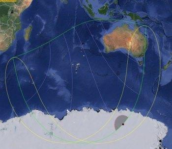 Area yang diliputi Gerhana Matahari Cincin 29 April 2016. Kredit: Solar Eclipse Maestro