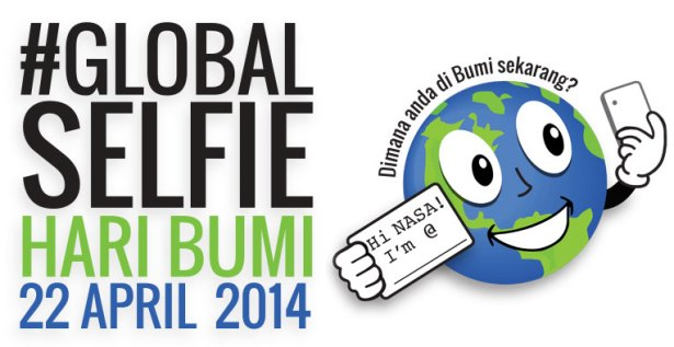 GlobalSelfie, memotret diri sendiri di hari Bumi. Kredit: NASA