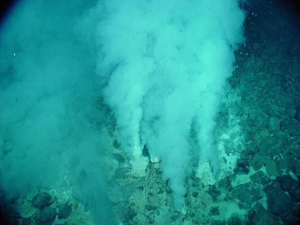 Ventilasi hidrotermal di dasar laut. Kredit: Wikipedia
