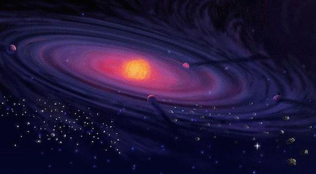 Piringan pembentukan planet. Kredit: NASA