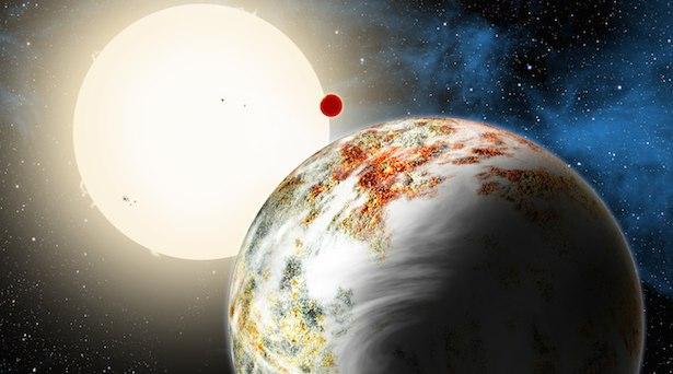 Planet Kepler 10c, si planet Mega Bumi. Kredit: David A. Aguilar (CfA)