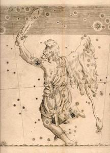 Orion dalam Uranometria. Kredit: Wikipedia