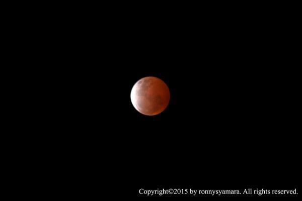 Gerhana Bulan Total 4 April 2015 dari Sofifi. Kredit: Ronny Syamara