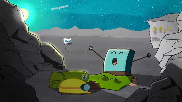 Philae yang bangun dari tidur. Kredit: ESA