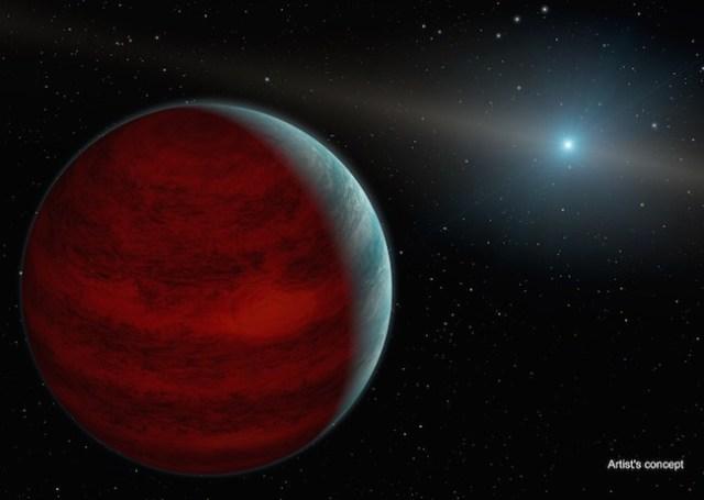 Planet yang kembali muda dan bersinar di bintang katai putih PG 0010+280. Kredit: NASA/JPL-Caltech