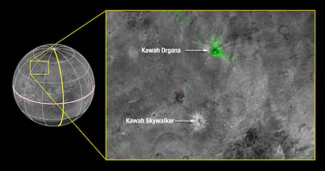 Kawah di Charon: Kredit: NASA/Johns Hopkins University Applied Physics Laboratory/Southwest Research Institute