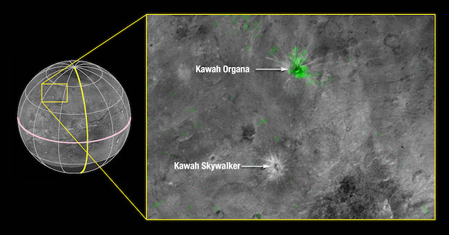 Kawah di Charon: Kredit: NASA/Johns Hopkins University Applied Physics Laboratory/Southwest Research Institute