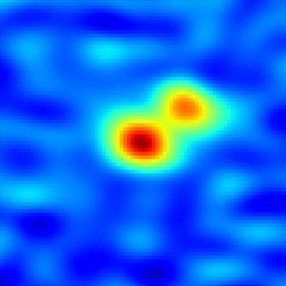 Sistem bintang ganda di Awan Molekular Perseus. Kredit: Tobin, et al., NRAO/AUI/NSF.