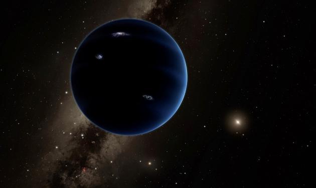 Ilustrasi Planet Sembilan. Kredit: Caltech/R. Hurt (IPAC)