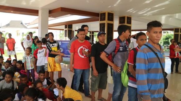 Pengamatan GMS di Lapangan Merdeka, Ambon.. Kredit: AAC