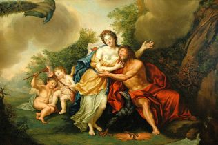 Lukisan Jupiter dan Juno oleh Franz Christoph Janneck (1703–1761). Sumber: Wikimedia