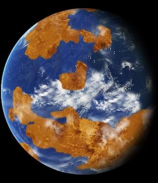Planet Venus purba yang laik huni. Kredit: NASA